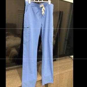Figs scrubs pants ciel sz S blue